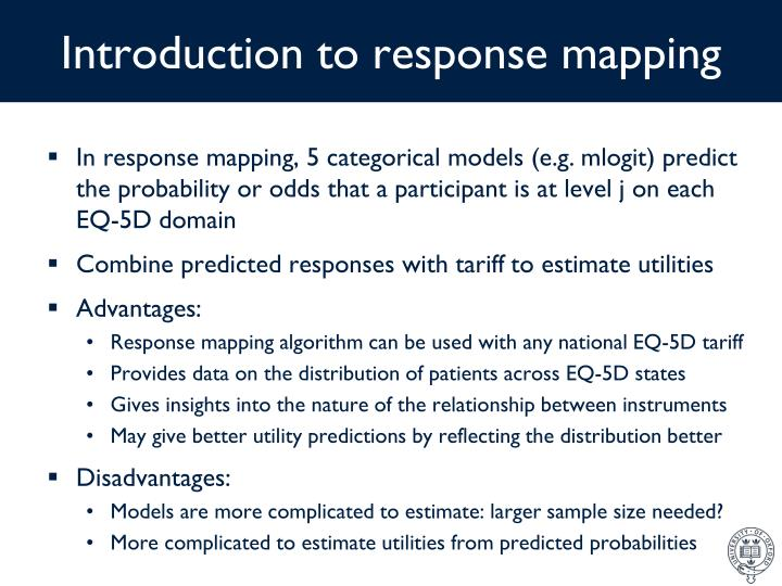 Introduction to response mapping