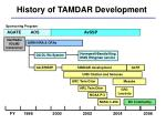 history of tamdar development