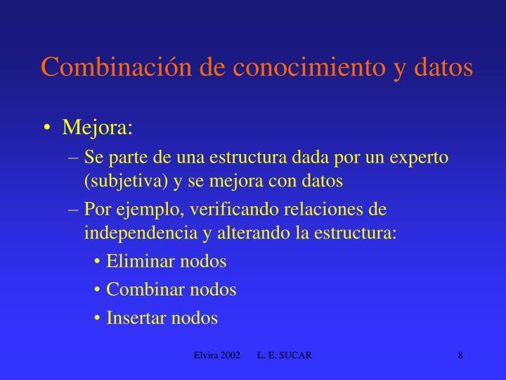 Combinación de conocimiento y datos