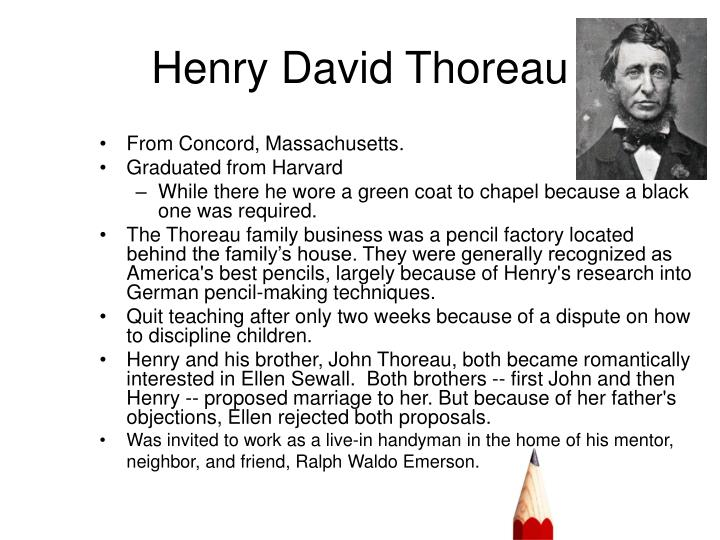 a comparison of beliefs between henry david thoreau and ralph waldo emerson