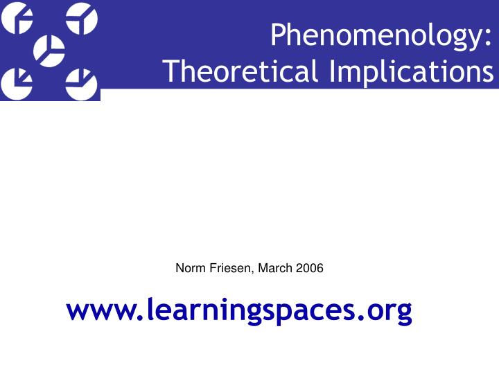 phenomenology theoretical implications n.