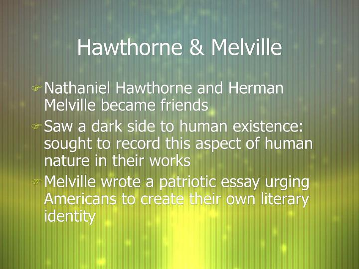 herman melville anti transcendentalism and symbolism essay Transcendentalism 1840-1860 history: ralph waldo emerson's essay nature (1836) is considered to be the beginning of the transcendental era transcendental club.
