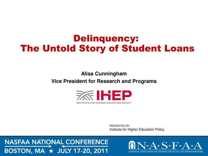 the loan delinquency essay Read this essay on calculating lagged delinquency come browse our large digital warehouse of free sample essays get the knowledge you need in order to pass your.