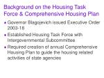 background on the housing task force comprehensive housing plan