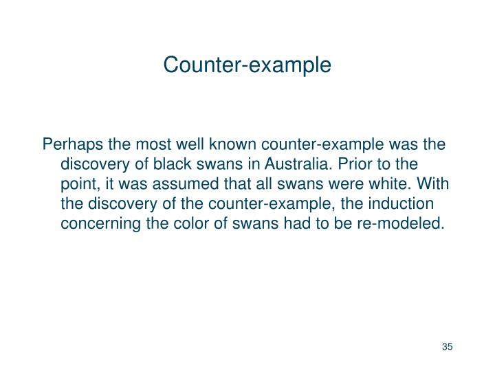 Counter-example