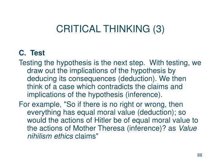 CRITICAL THINKING (3)