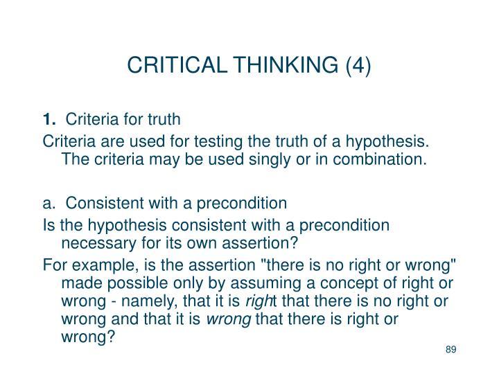 CRITICAL THINKING (4)