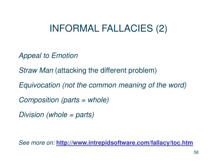 INFORMAL FALLACIES