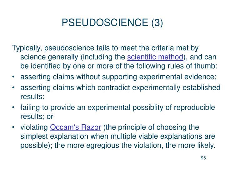 PSEUDOSCIENCE (3)