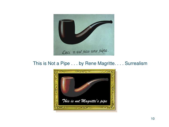 This is Not a Pipe . . . by Rene Magritte. . . . Surrealism