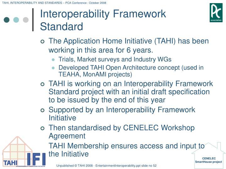 Interoperability Framework Standard