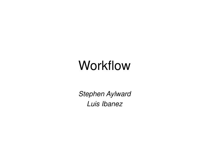 workflow n.