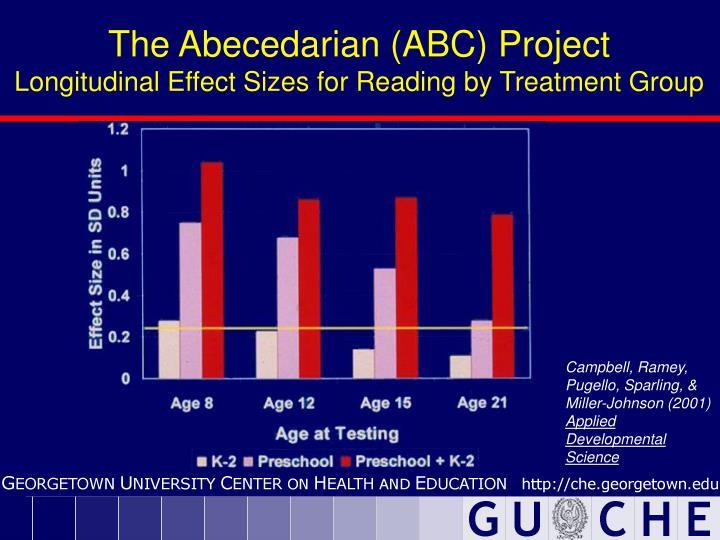 The Abecedarian (ABC) Project