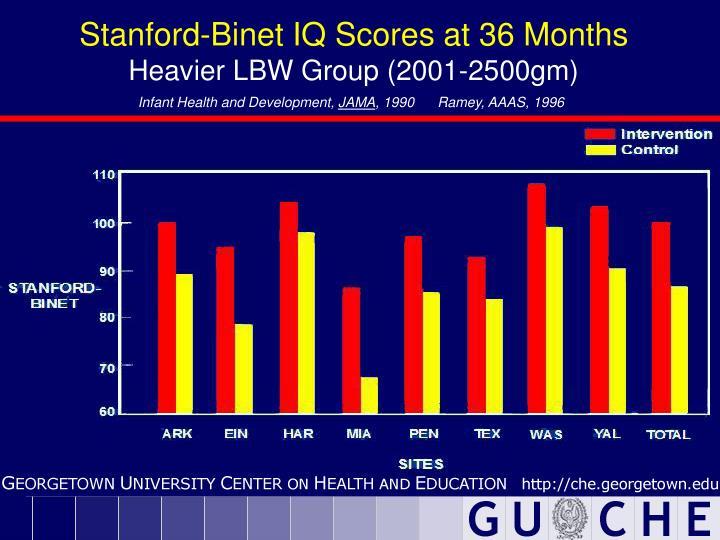 Stanford-Binet IQ Scores at 36 Months