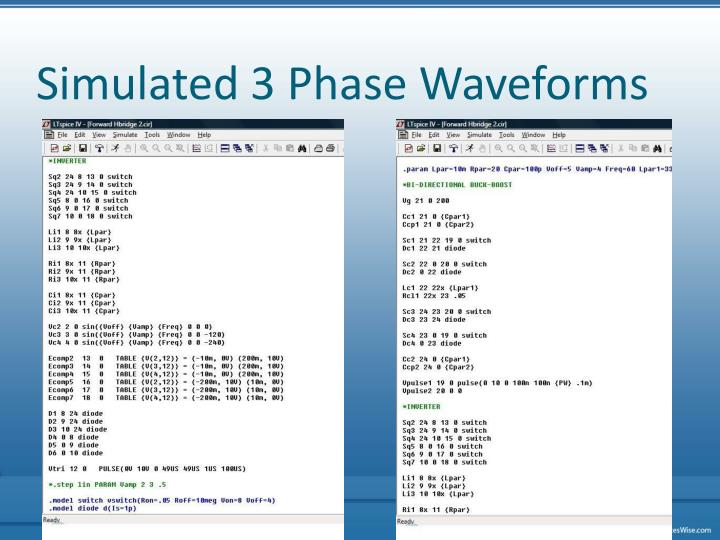 Simulated 3 Phase Waveforms