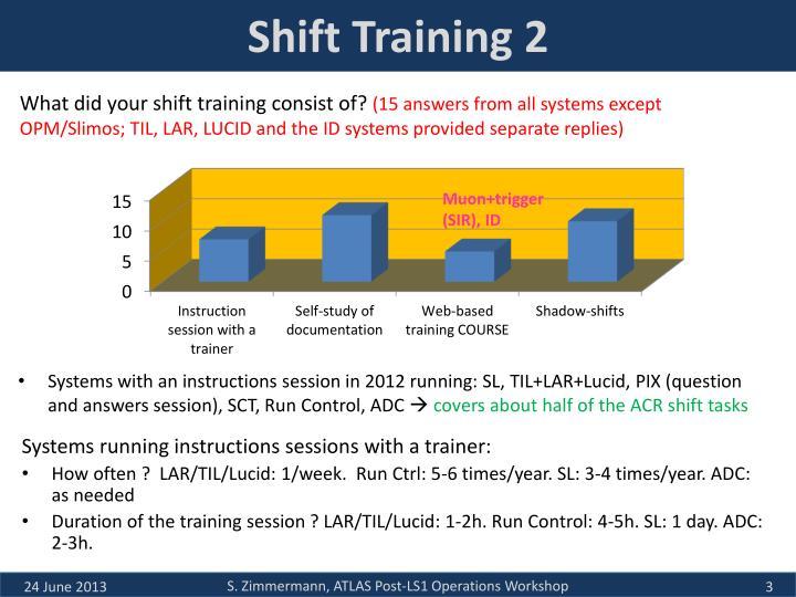 Shift training 2