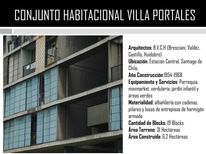 Conjunto habitacional villa portales