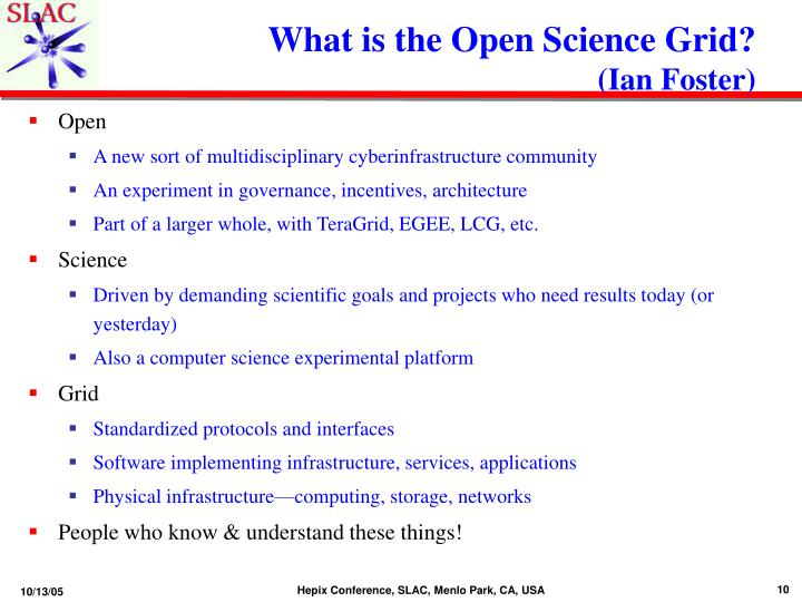 What is the Open Science Grid?