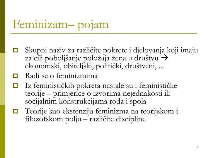 Feminizam pojam