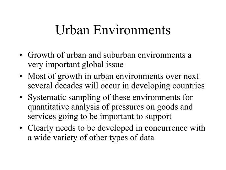 Urban Environments