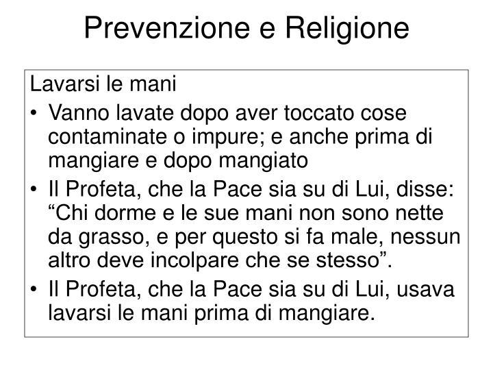 Prevenzione e Religione