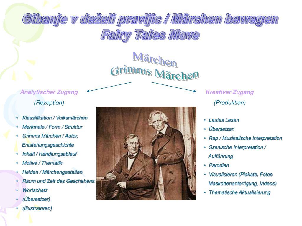 Ppt Märchen Grimms Märchen Powerpoint Presentation Free