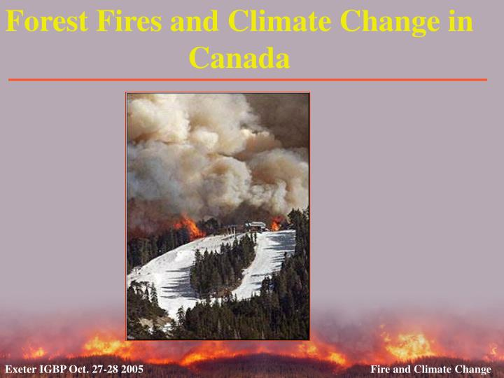 forest fires and climate change in canada n.