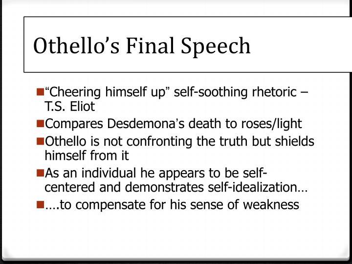 othellos last speech