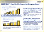 2006 2007 growth of online advertising continues
