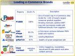 leading e commerce brands