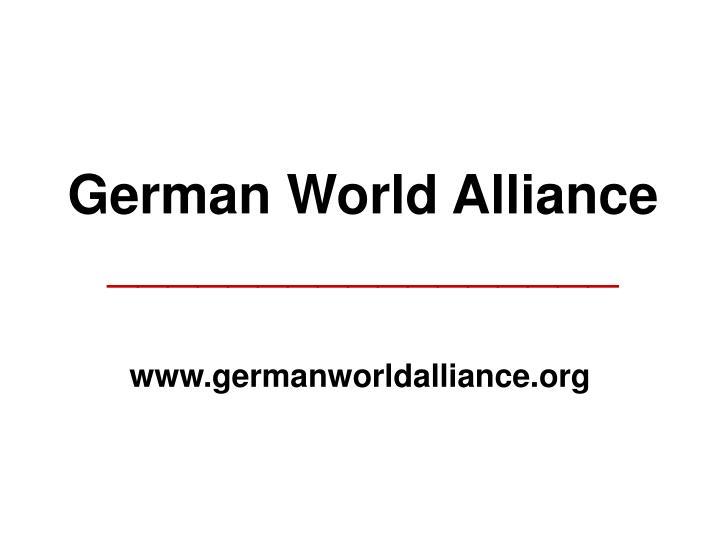 german world alliance n.