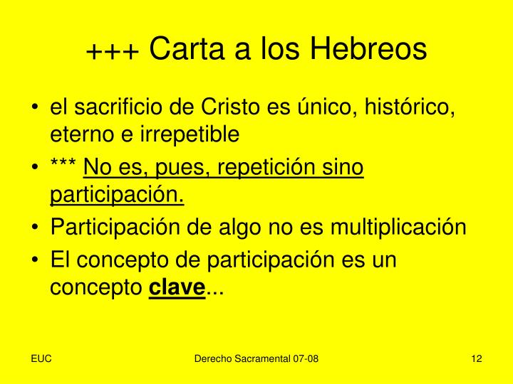 +++ Carta a los Hebreos