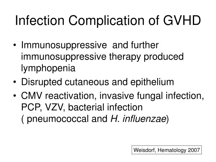 Infection Complication of GVHD