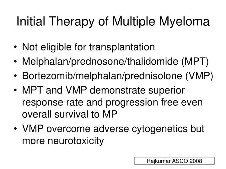 Initial Therapy of Multiple Myeloma