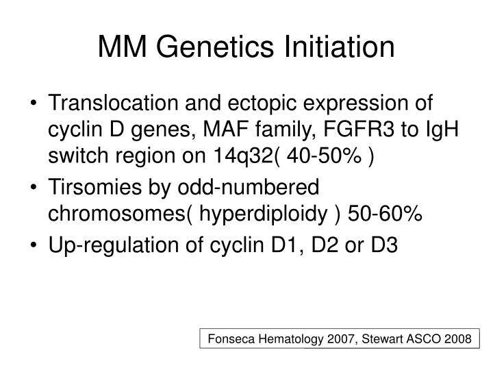 MM Genetics Initiation