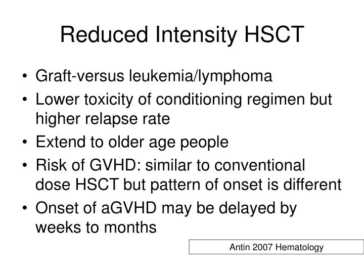 Reduced Intensity HSCT