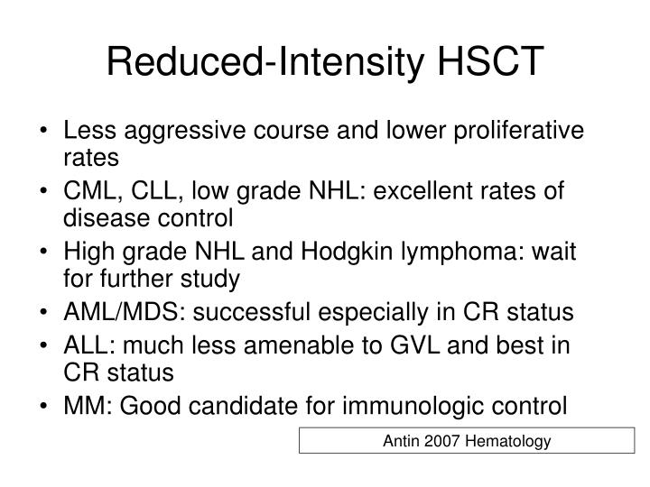 Reduced-Intensity HSCT