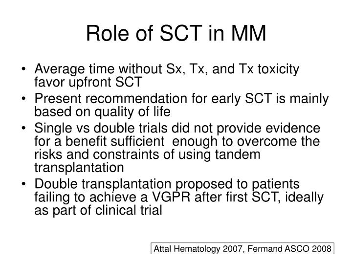 Role of SCT in MM