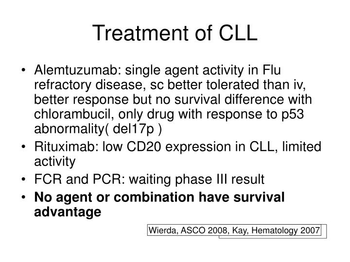 Treatment of CLL