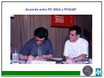 acuerdo entre pc idea y pcgiap