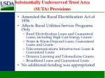 substantially underserved trust area suta provisions