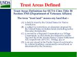 trust areas defined