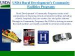 usda rural development s community facilities programs