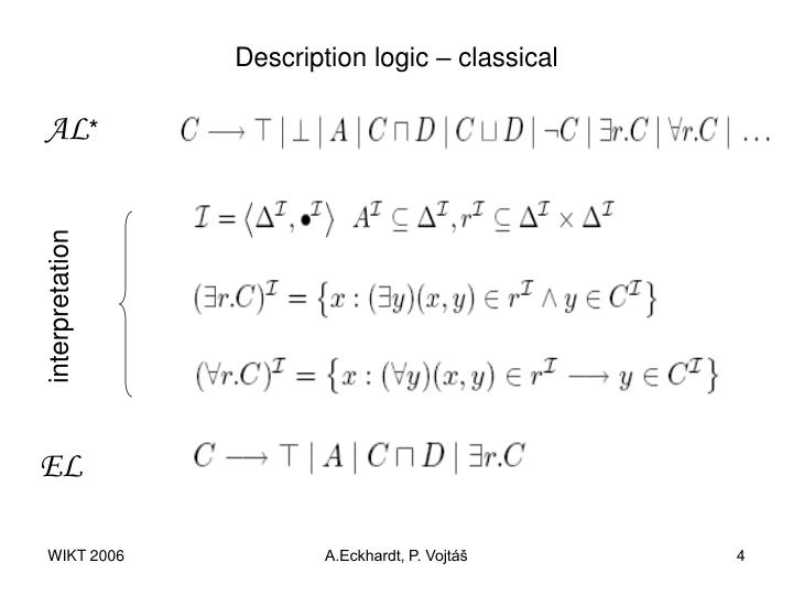 Description logic – classical
