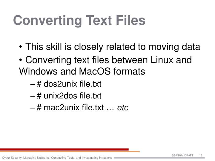 Converting Text Files
