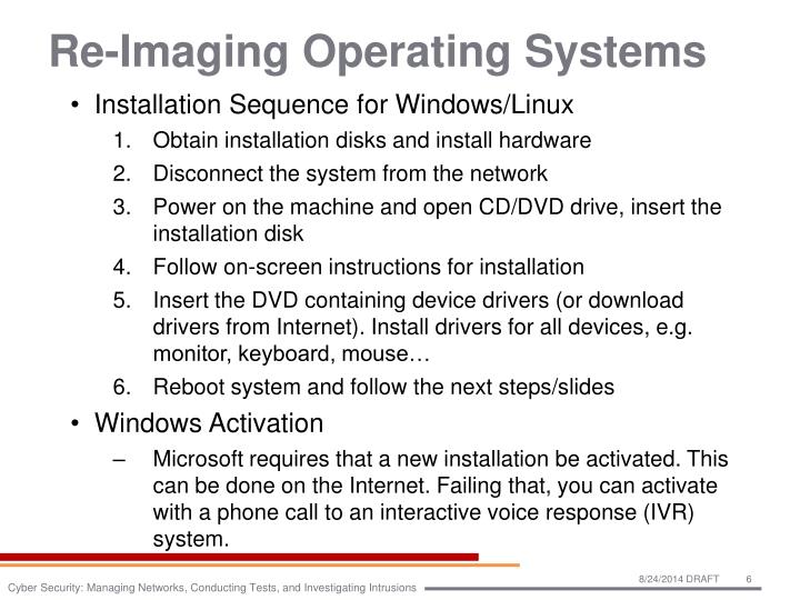 Re-Imaging Operating Systems