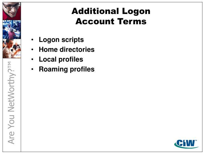 Additional Logon