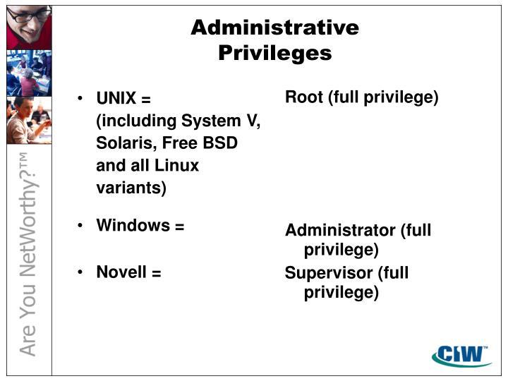 UNIX =