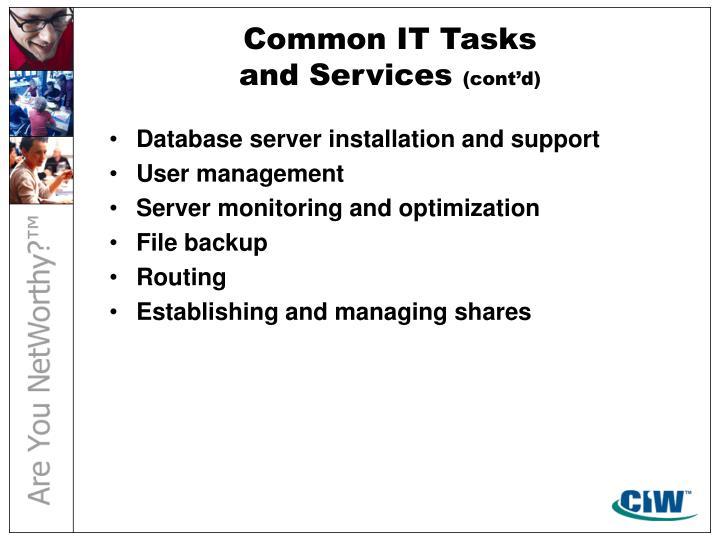 Common IT Tasks