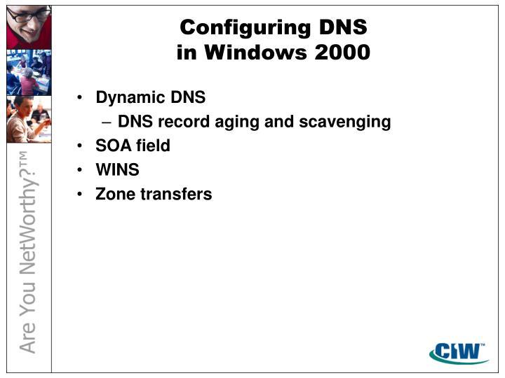 Configuring DNS